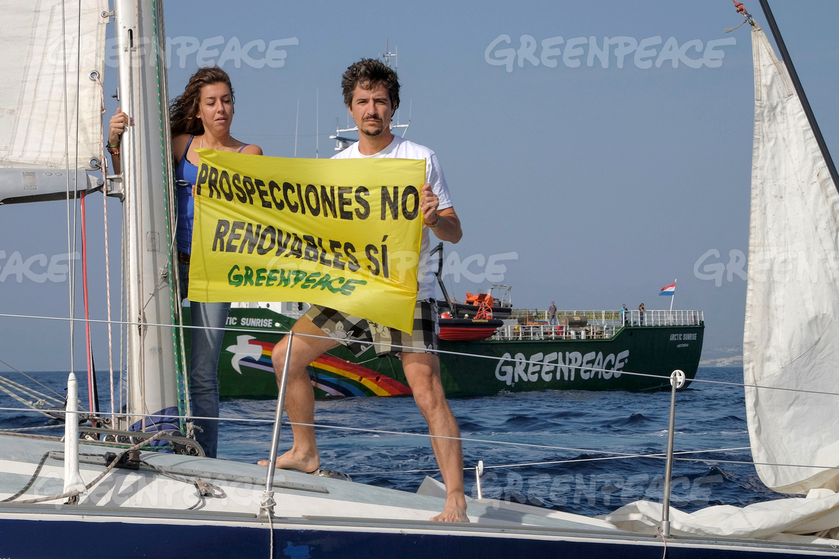 Protest Against Repsol in Spain