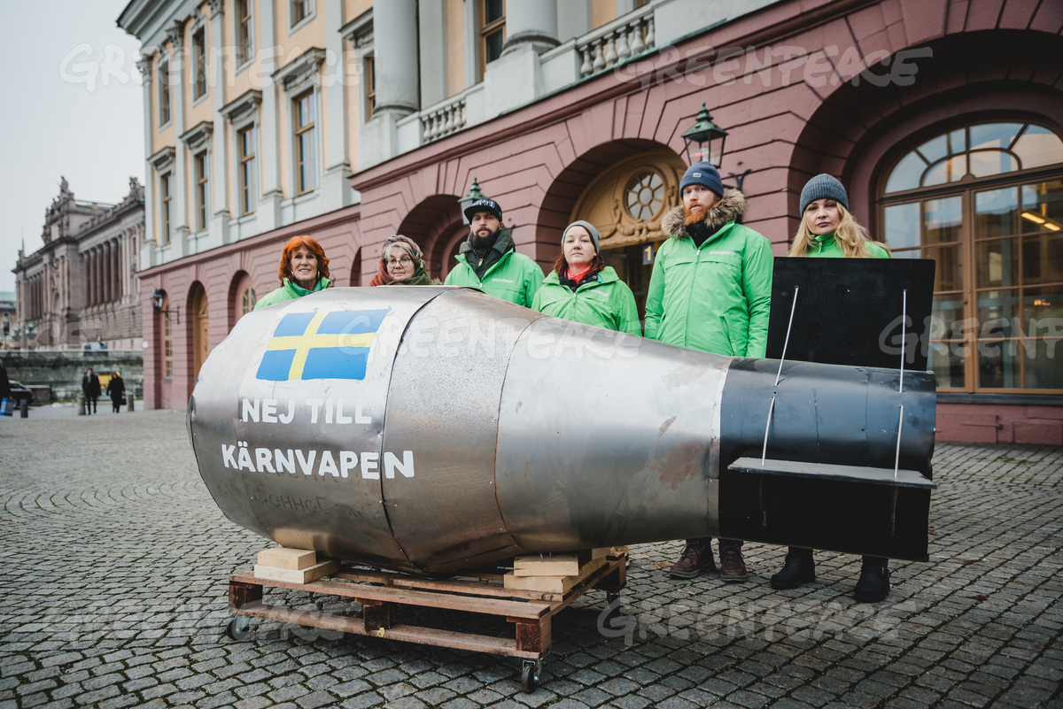 UN Nuclear Weapons Ban Petition Delivery in Stockholm