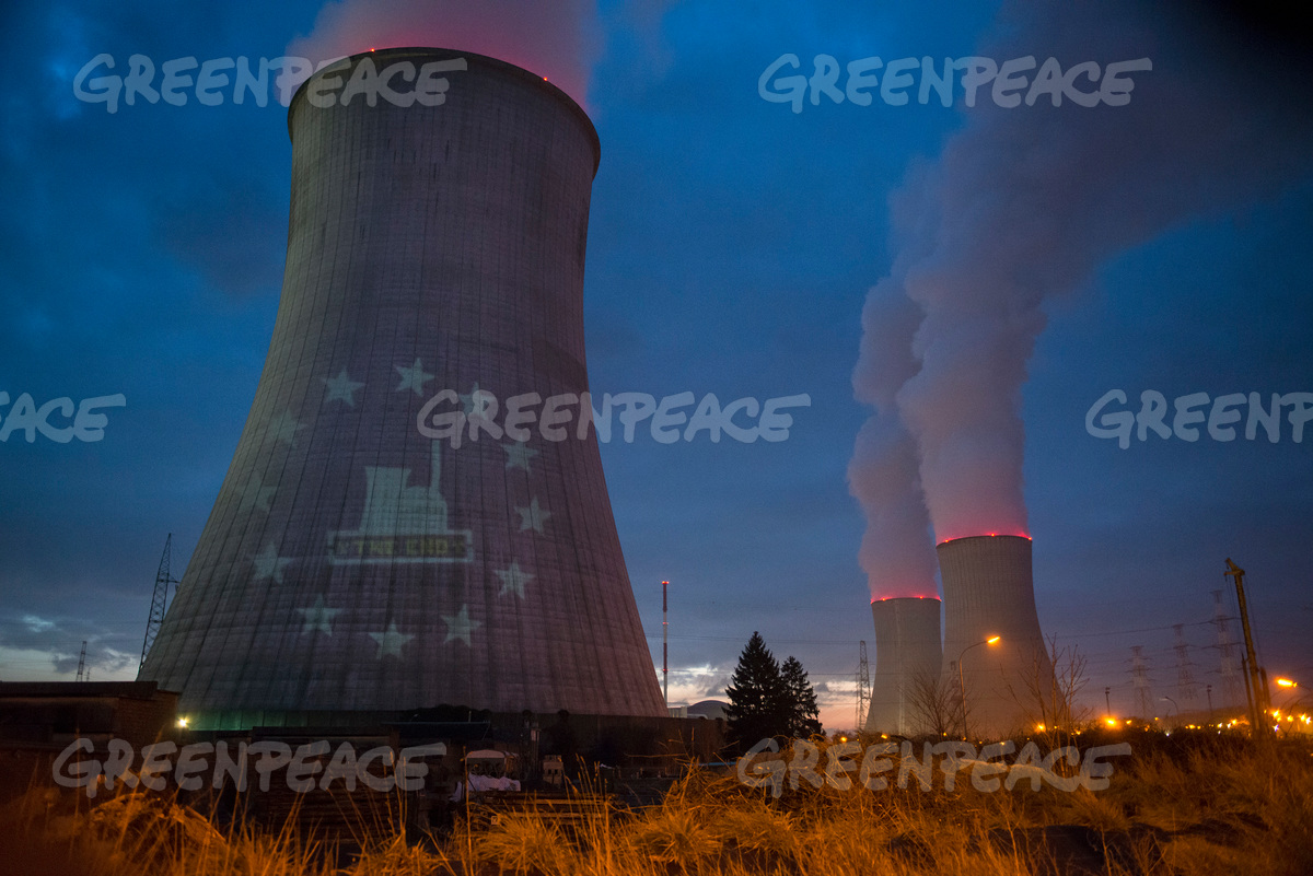 Action at Tihange Nuclear Power Plant in Belgium