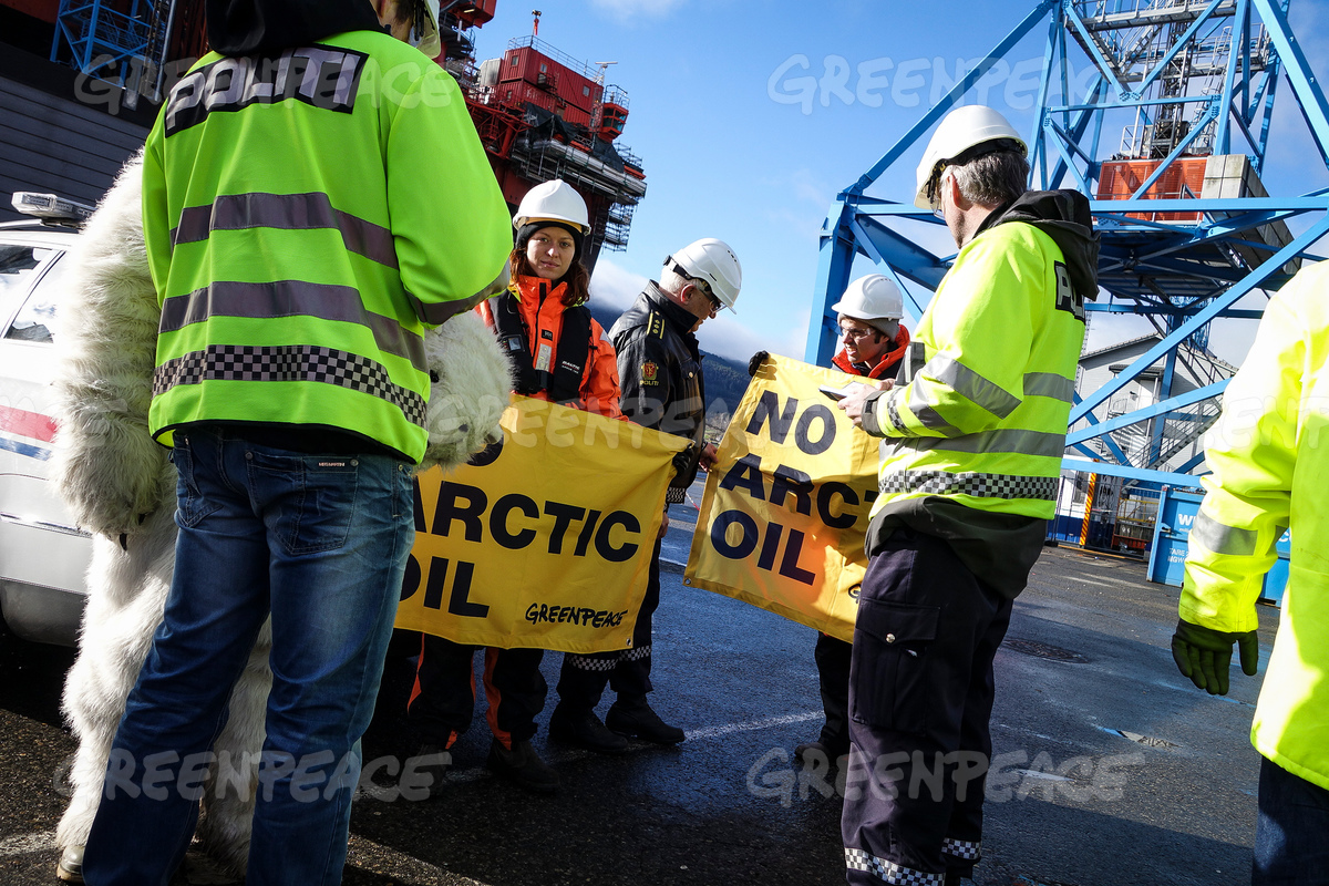 Activists Scale ExxonMobil Rig in Norway on Valdez Anniversary