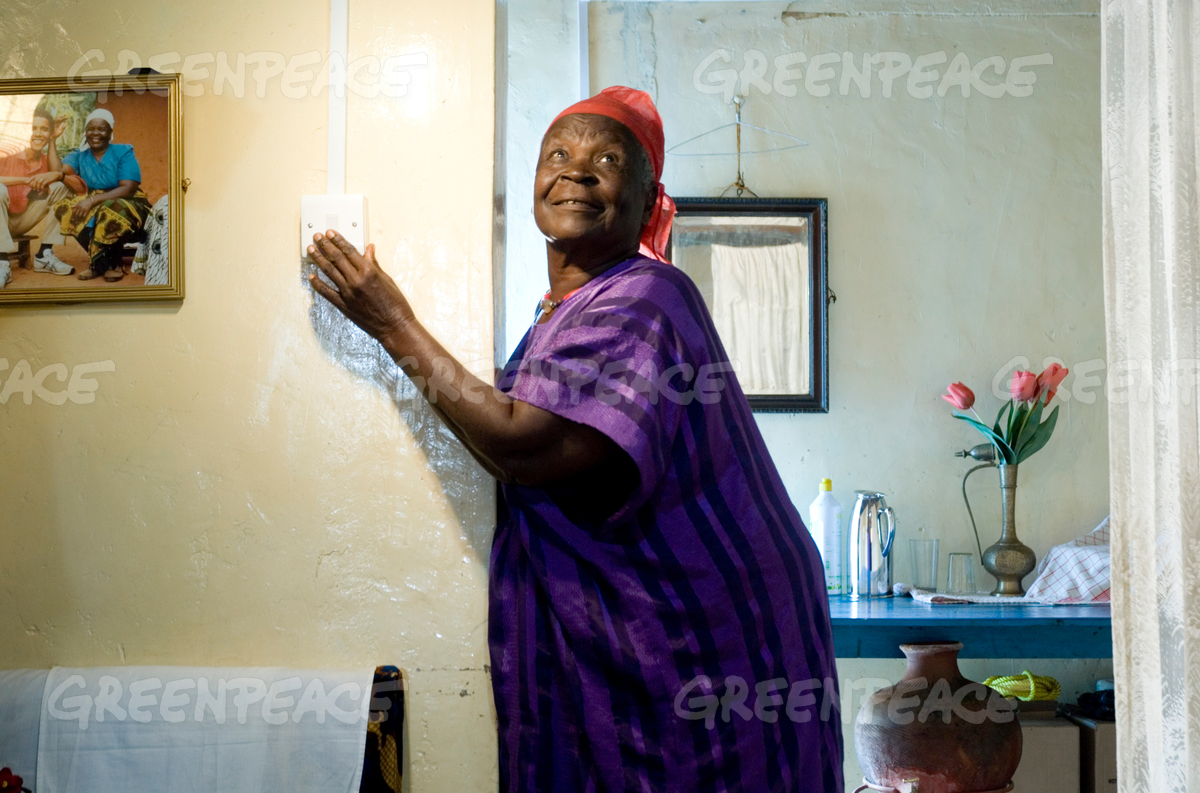 Mama Sara Obama after Solar Panels Installation in Kenya