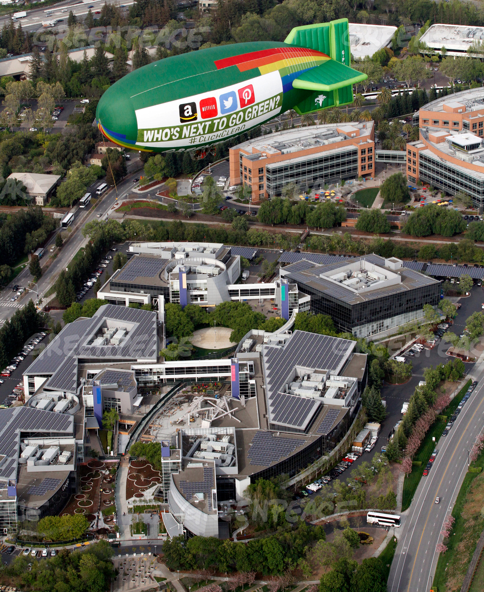 Airship Flight over Google in Silicon Valley
