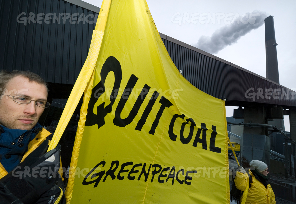 Climate Action at Coal Terminal in Denmark