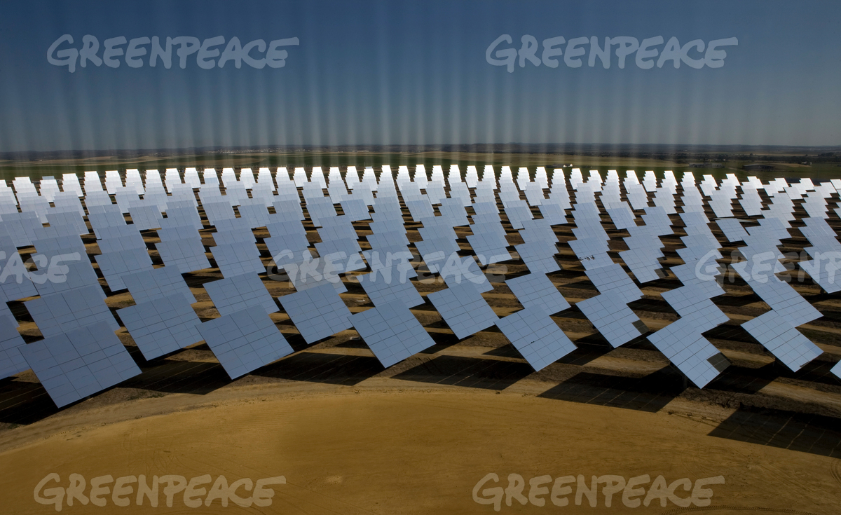 Concentrating Solar Tower Plant in Spain