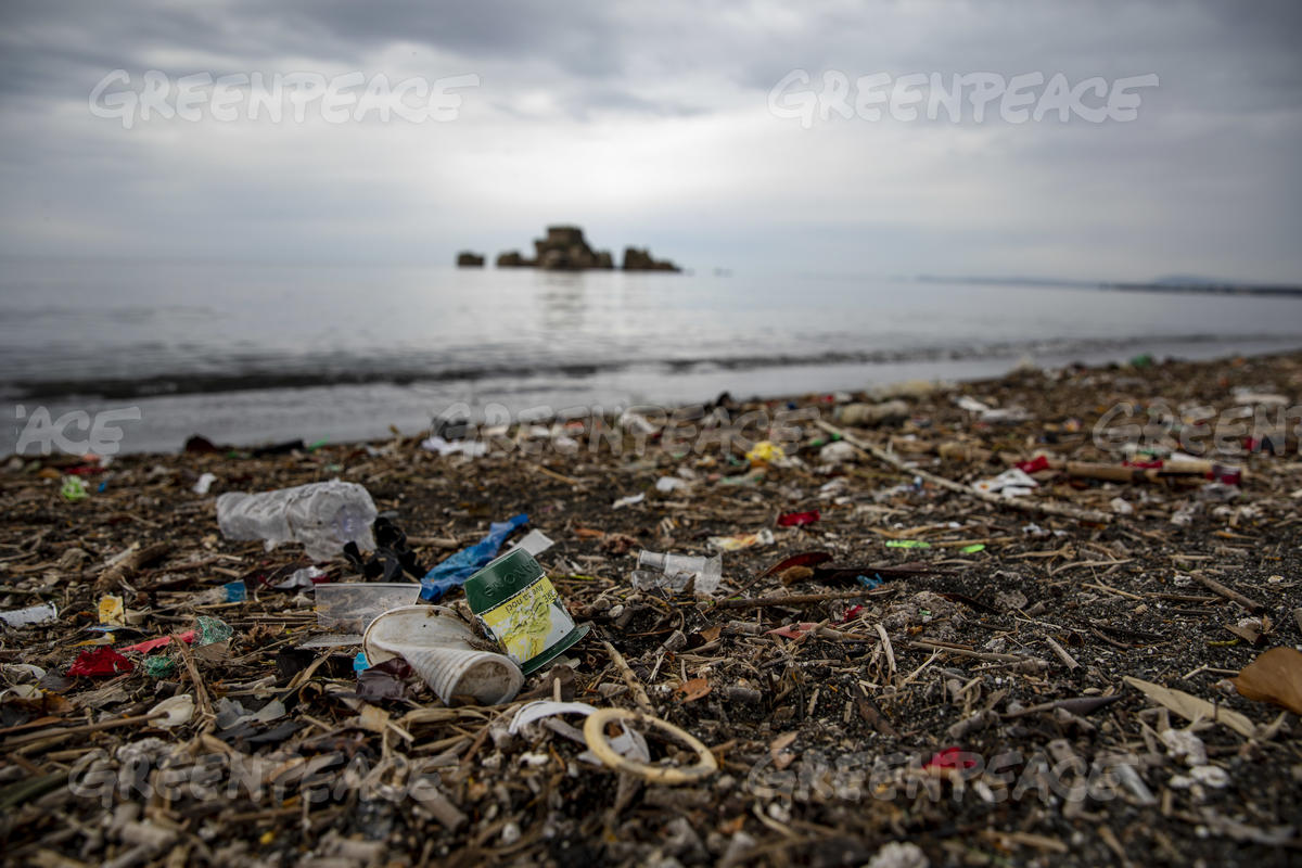Plastic Waste at the Mouth of Sarno River, Italy