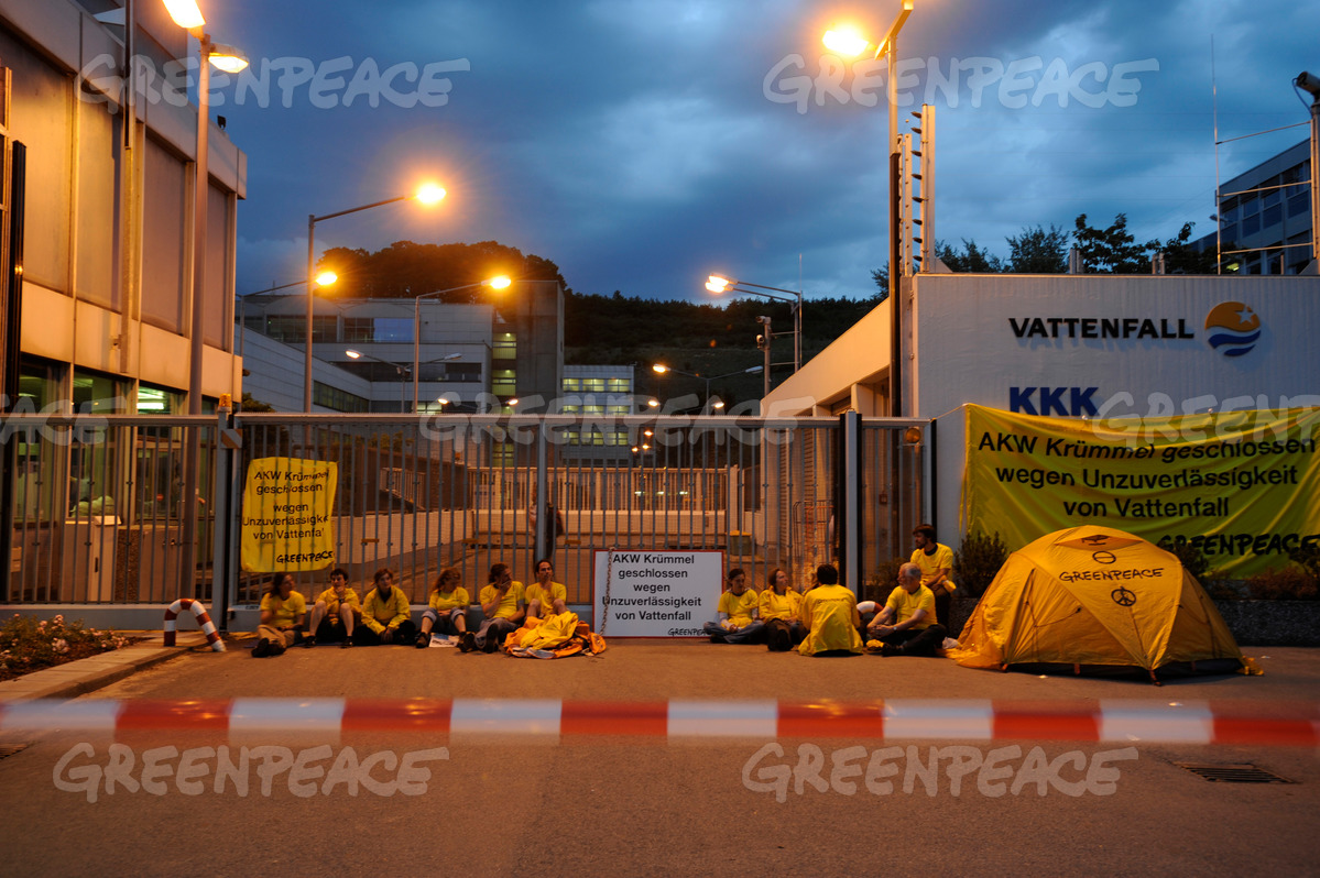 Vattenfall Kruemmel Action in Germany