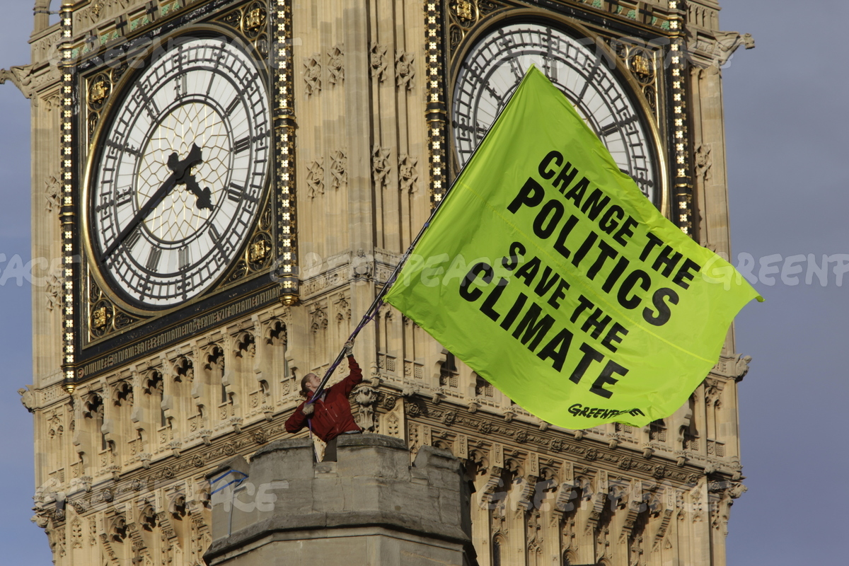 Climate Action at Westminster Palace in London