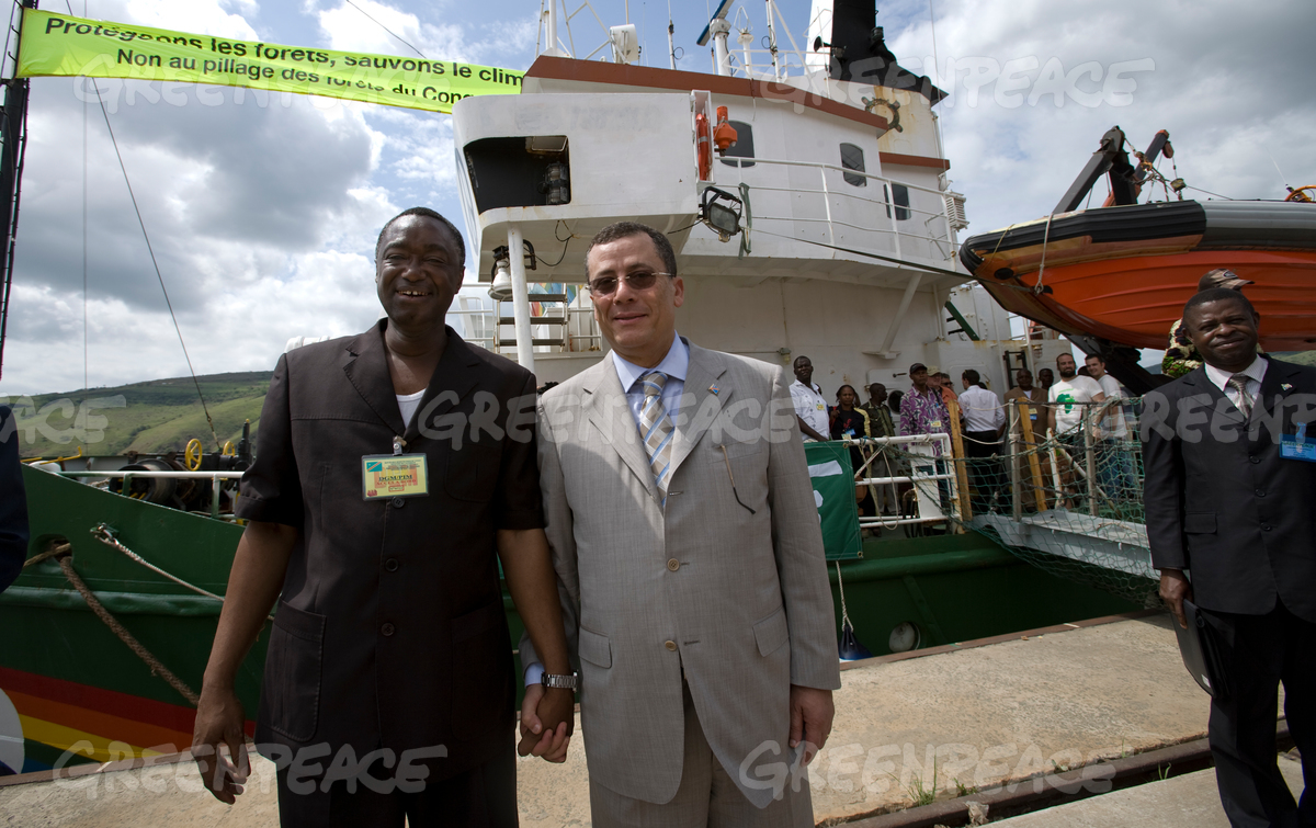 Amadou Kanute and DRC Minister of Environment