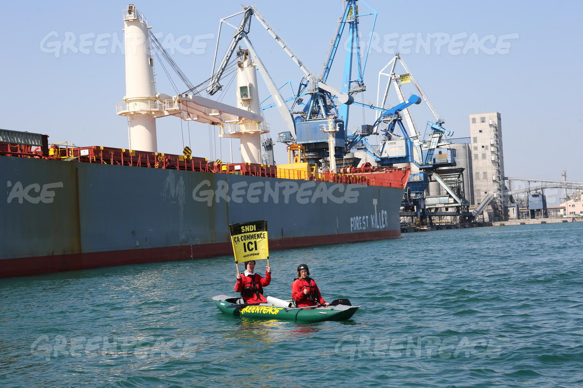 Blockade of Soy Cargo Ship in France
