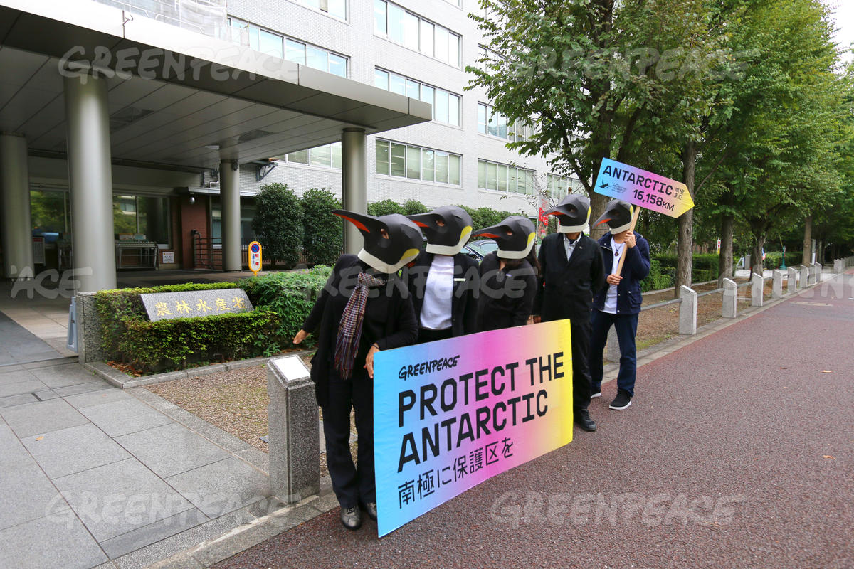 Protect the Antarctic Petition Delivery in Tokyo