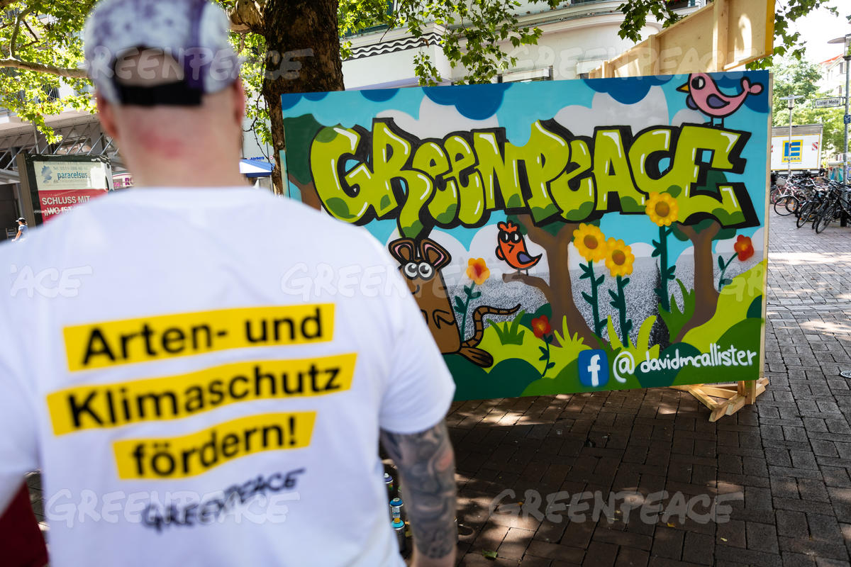 Grafitti Tour for Sustainable European Agricultural Policy in Germany