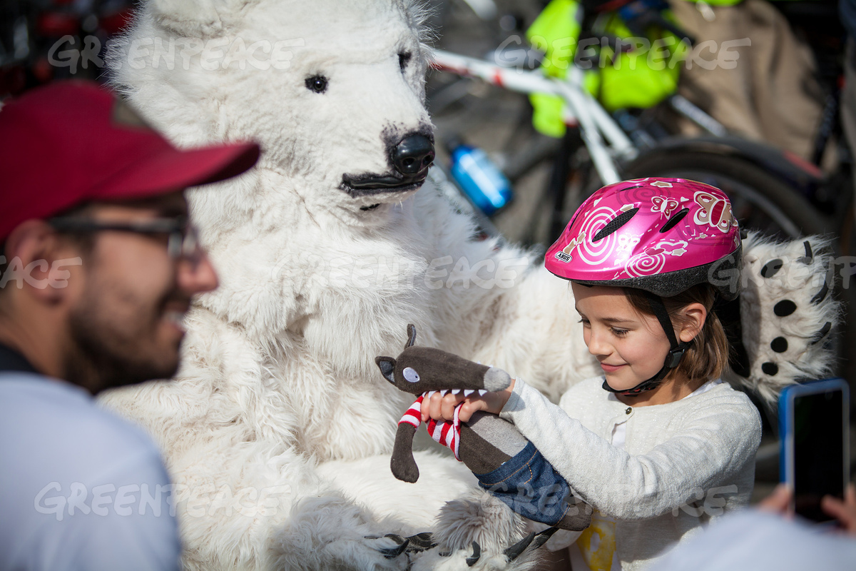 'Act for Arctic' Ice Ride in Brussels