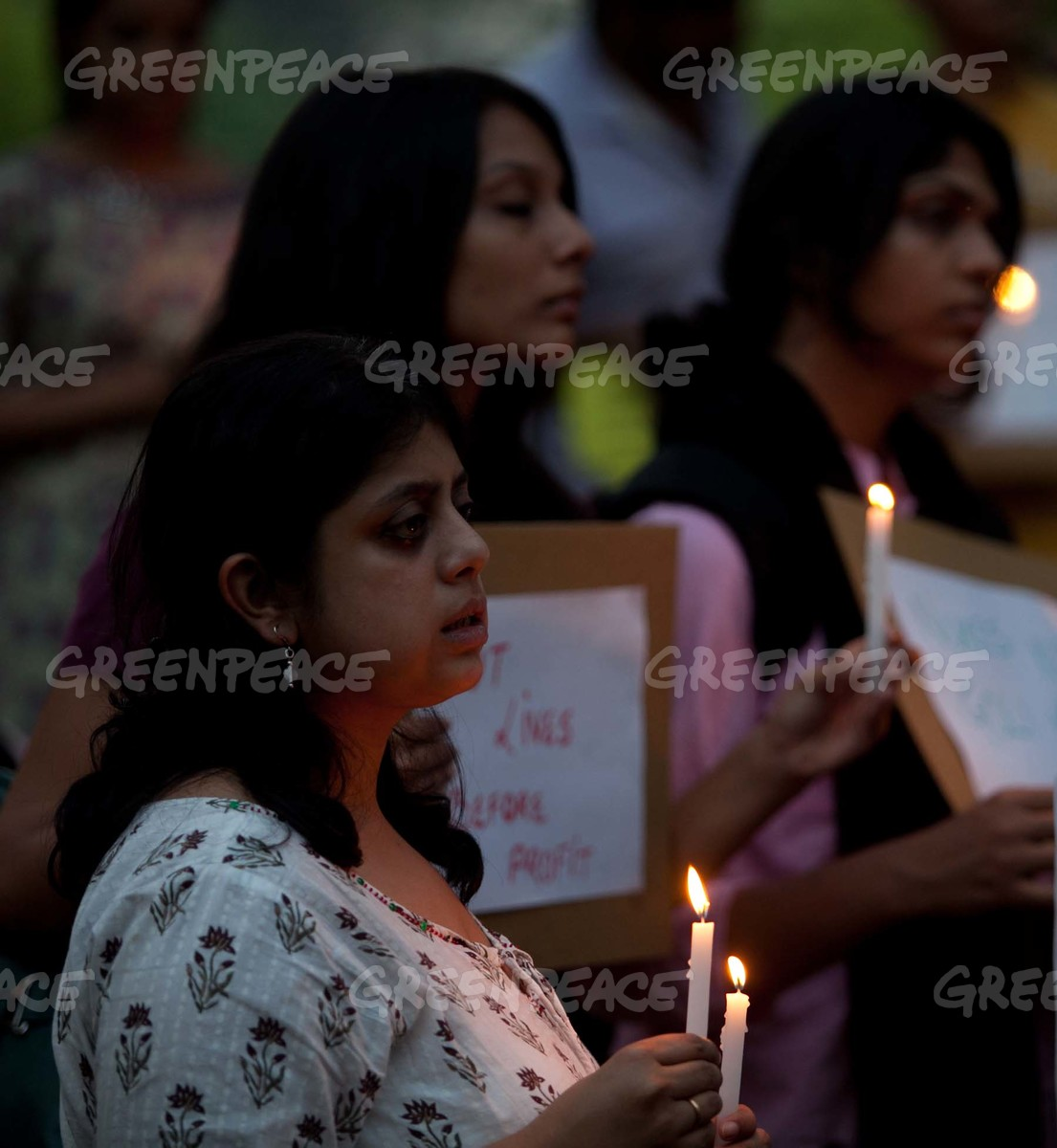 Vigil for Japan Victims in Bangalore