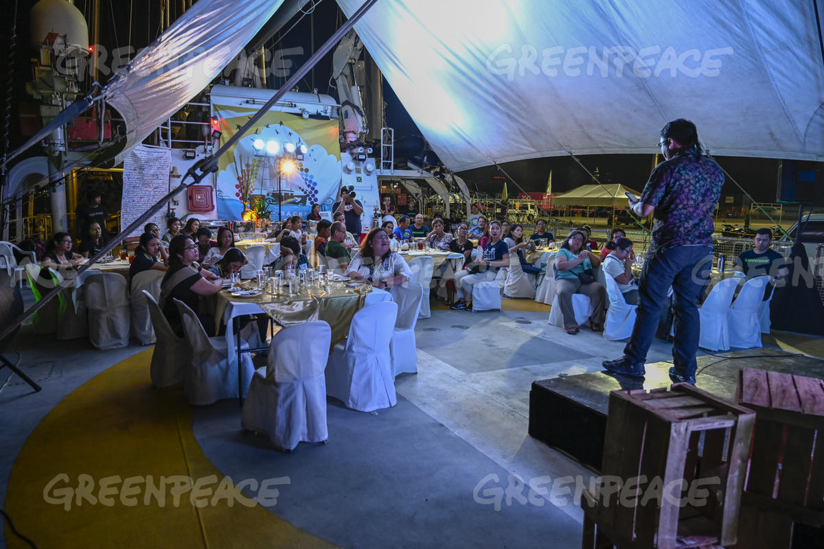 Donors Dinner on Rainbow Warrior in Cebu