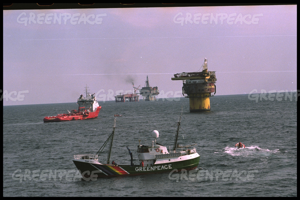 Brent Spar Occupation in the North Sea
