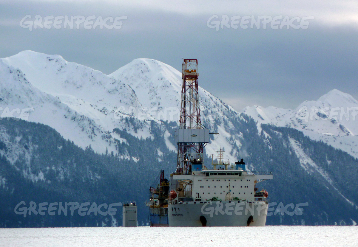 Shell Drill Ship Transported in Alaska