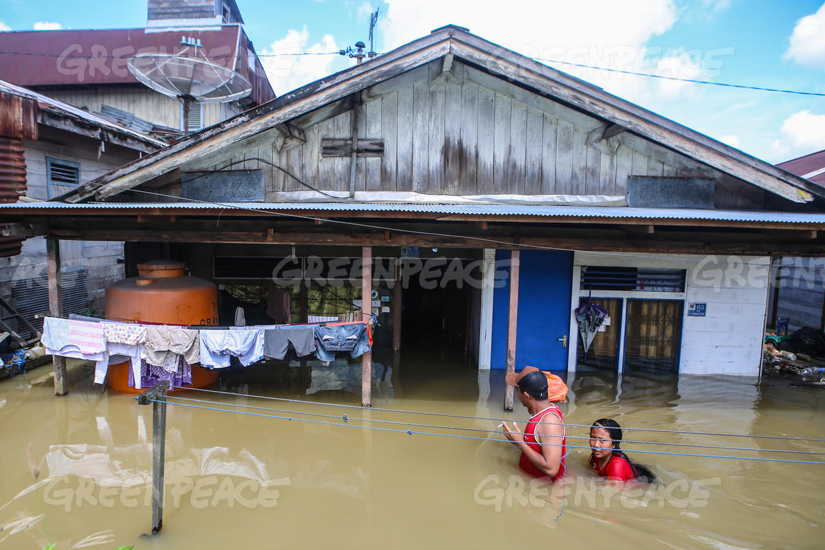 Flood in Samarinda, East Kalimantan
