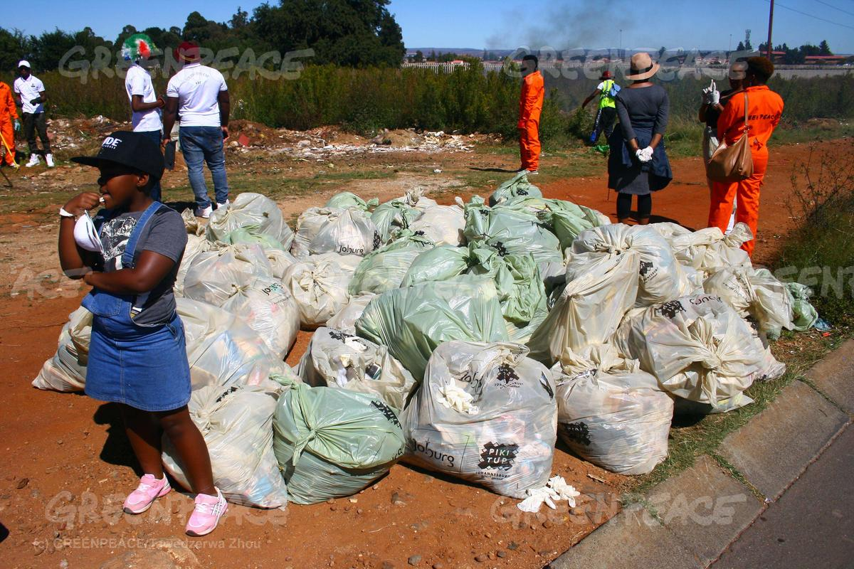 Plastic Cleanup Activity in Johannesburg