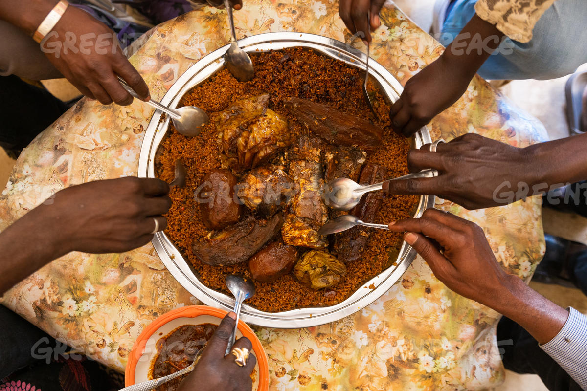 "Aida Dieye Prepares the Traditional Dish 'Theboudienne"" in Fass Boye"