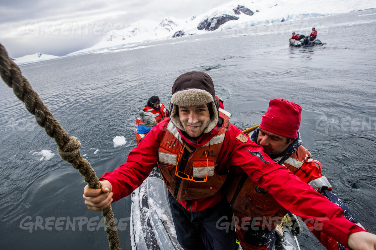 Ronni Christiansen in the Antarctic