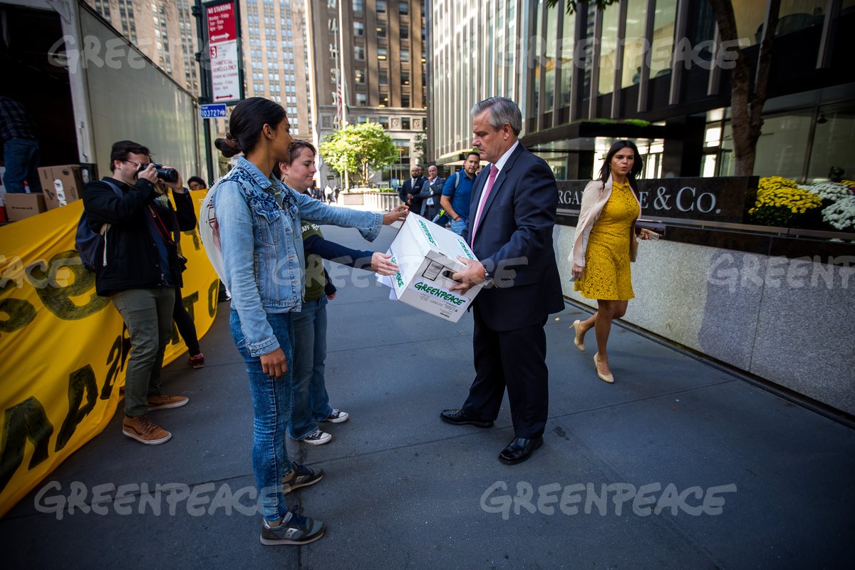 Petition Delivery to JP Morgan Chase in New York