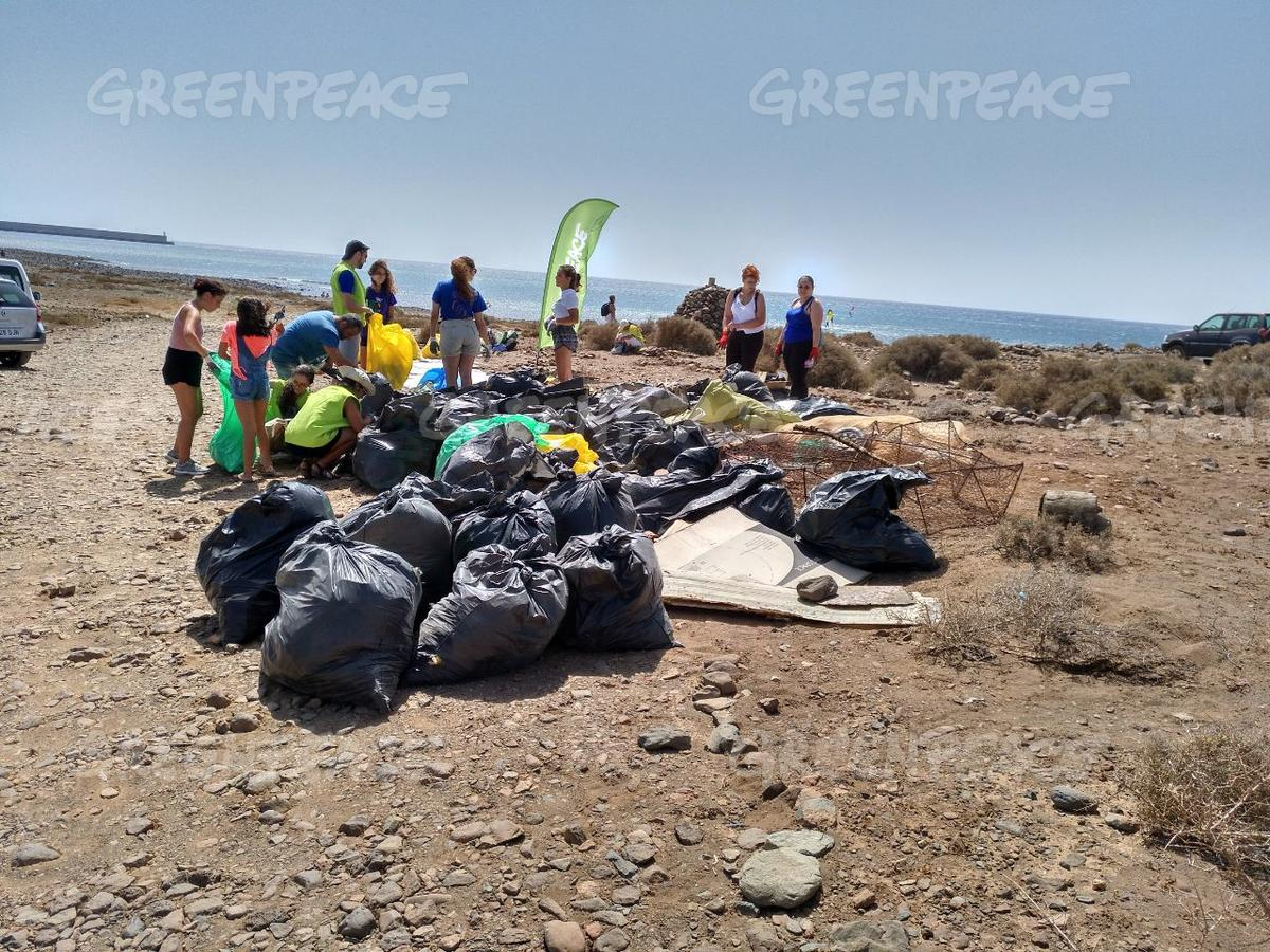 Plastic Clean Up and Brand Audit Activity in Spain