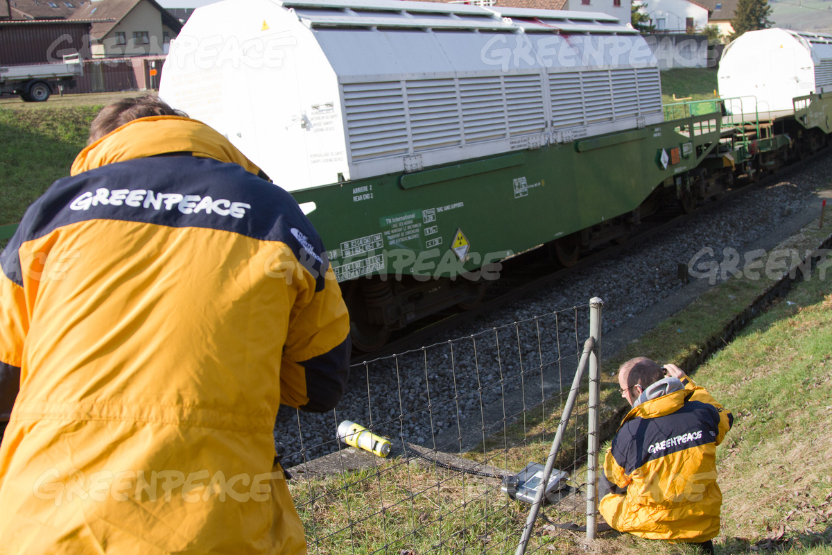 Nuclear Waste Train from France to Switzerland