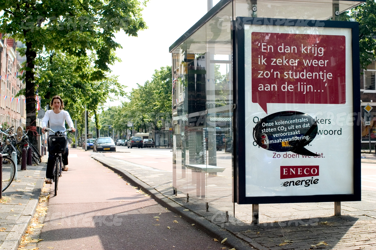 Climate Action Eneco Billboards in Leiden