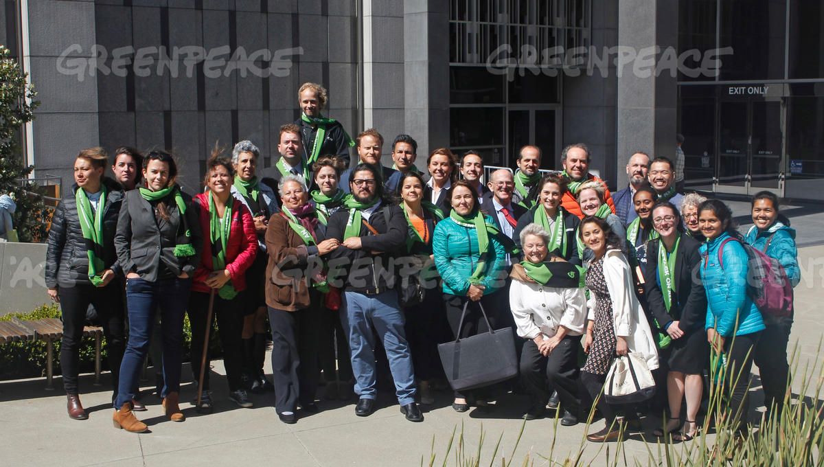 Supporters at Resolute Hearing in San Francisco