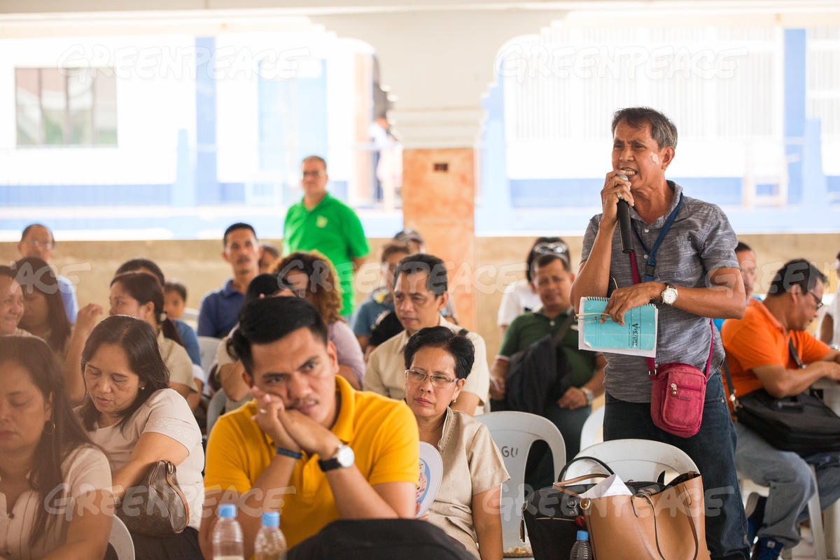 Forum on Climate Change in Capalonga, Philippines