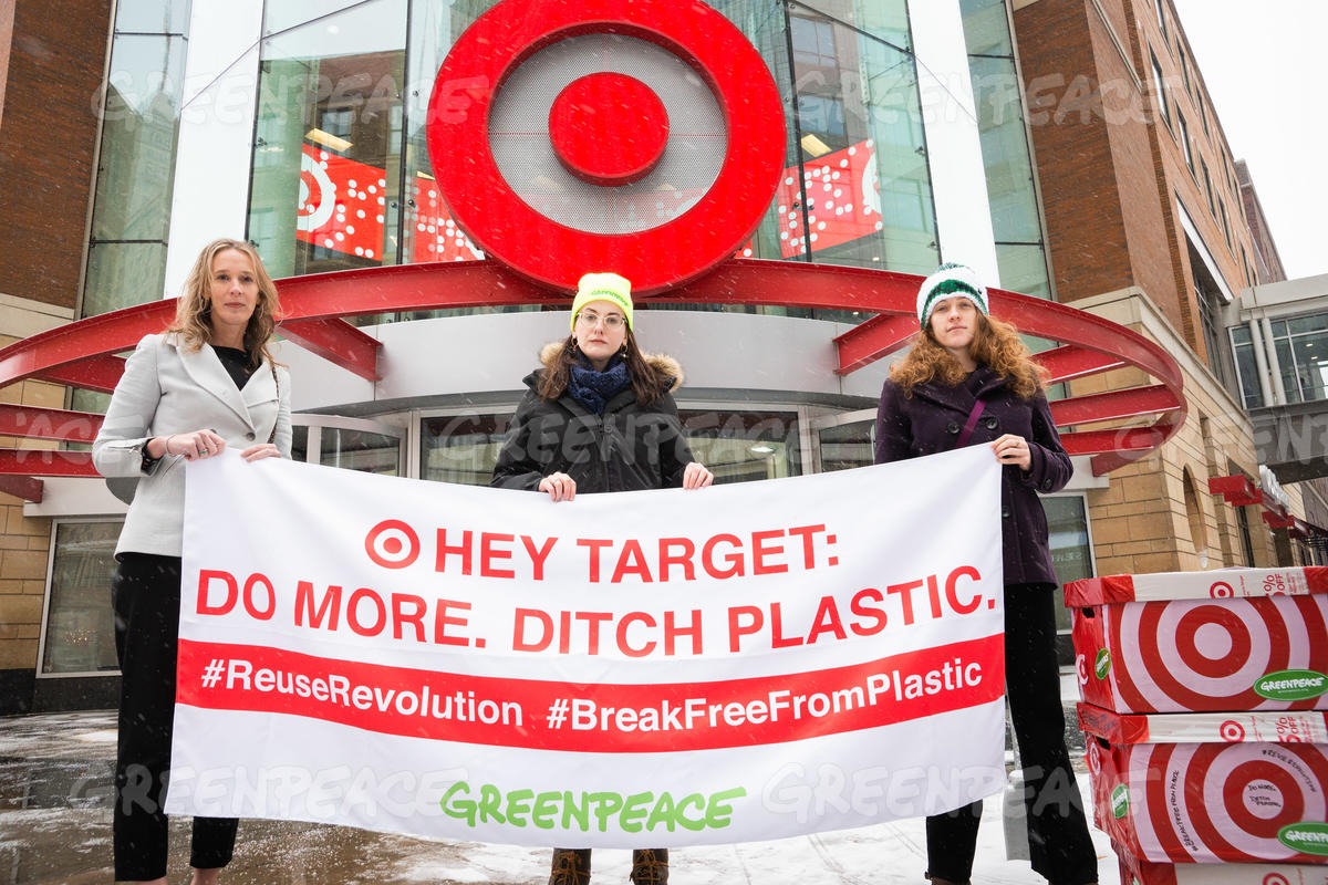 Plastics Petition Delivery to Target Headquarters in Minnesota