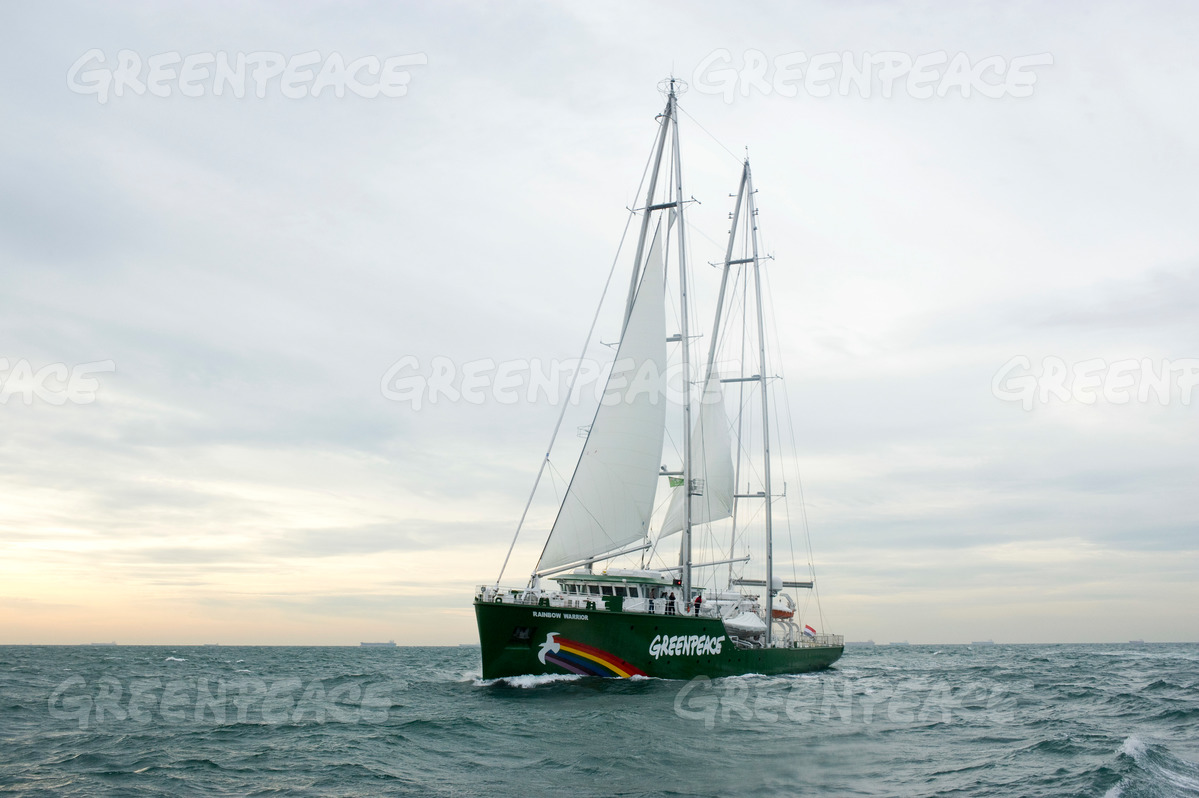 Rainbow Warrior III in the Netherlands