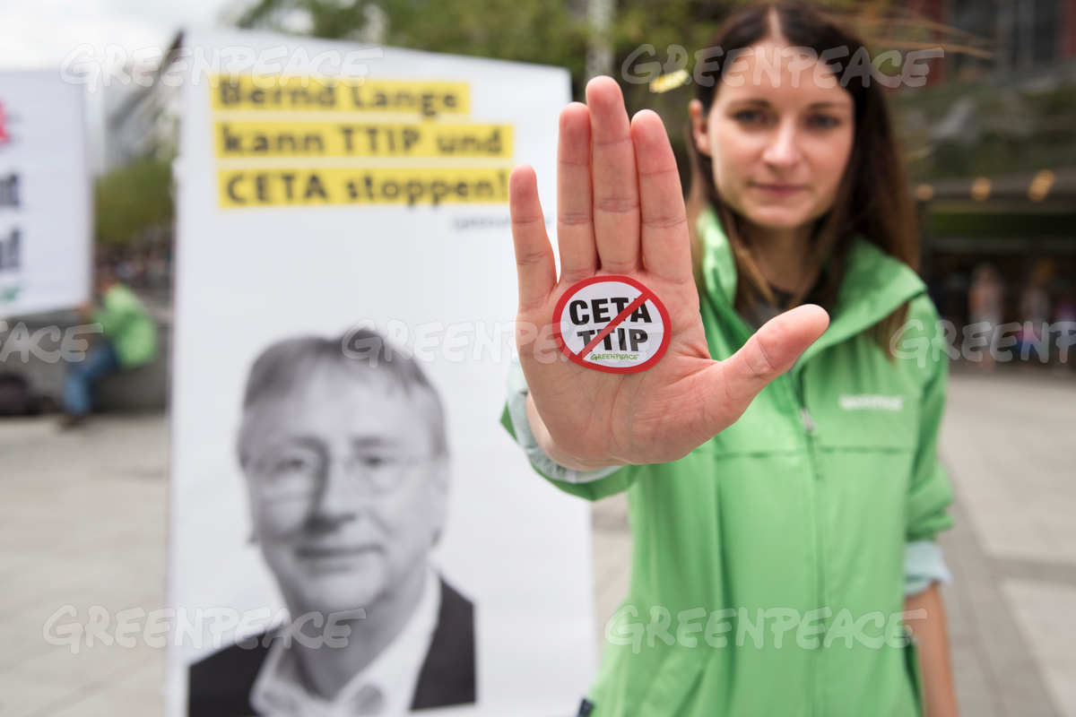 TTIP and CETA Protest with EU Politician Posters in Germany