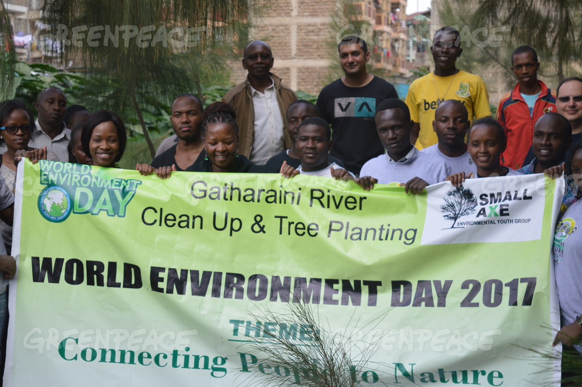 Tree Planting and Clean up Gatharaini River in Kenya