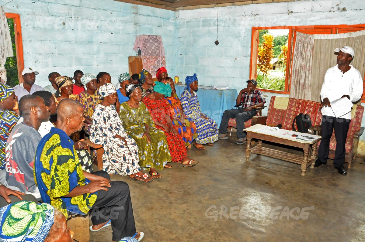 Villagers Meeting in Cameroon