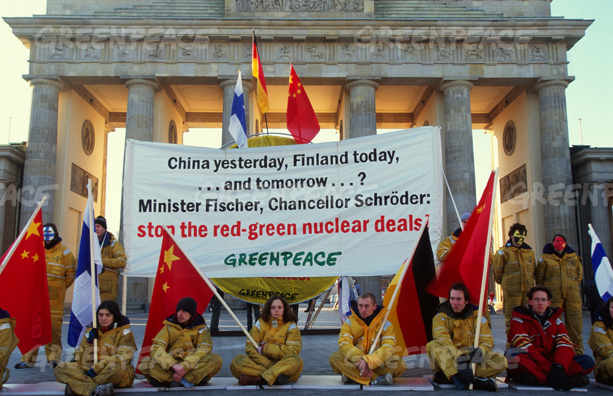 Action against Nuclear Energy in Berlin