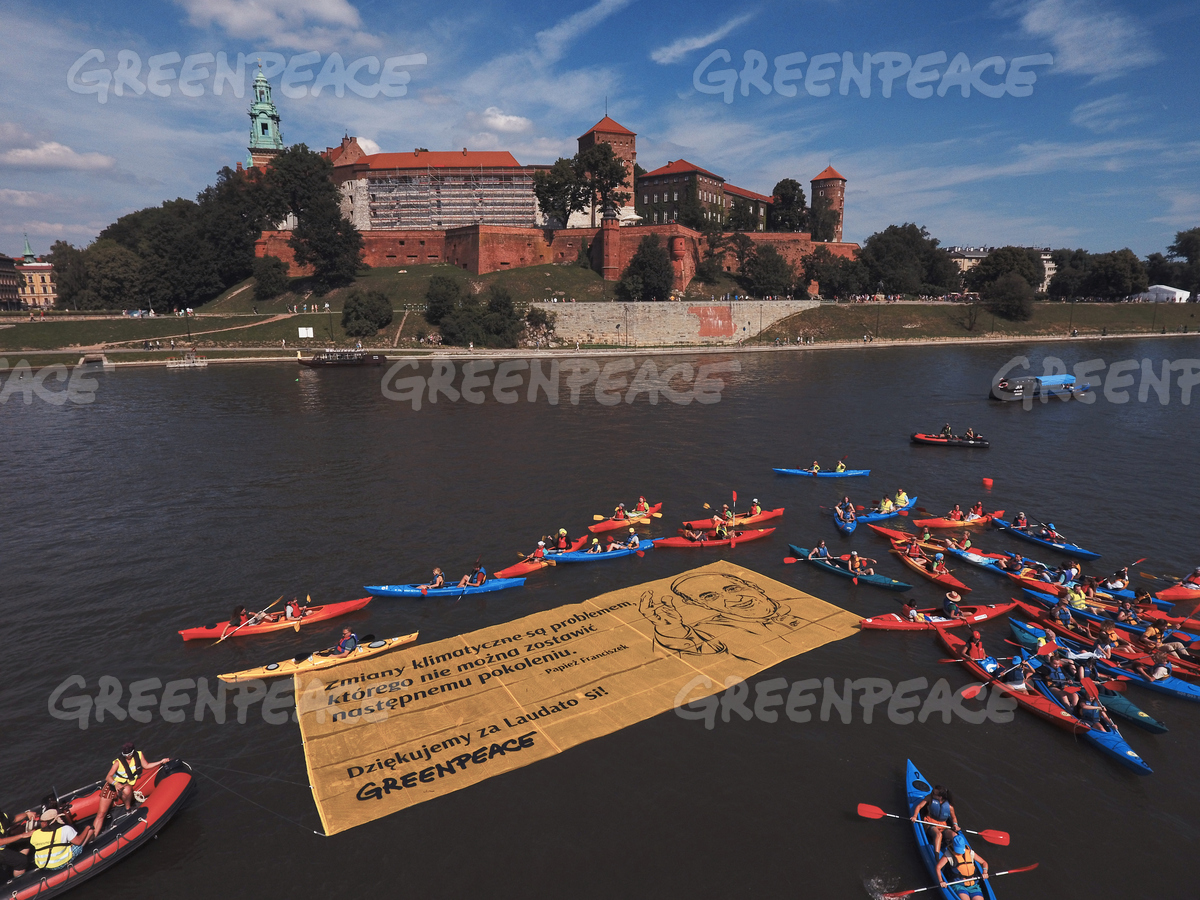 World Youth Day Activity on Vistula River  in Poland