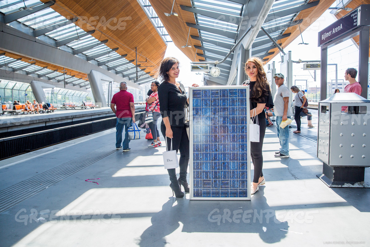 Portraits Inhabitants of Amsterdam with Solar Panels