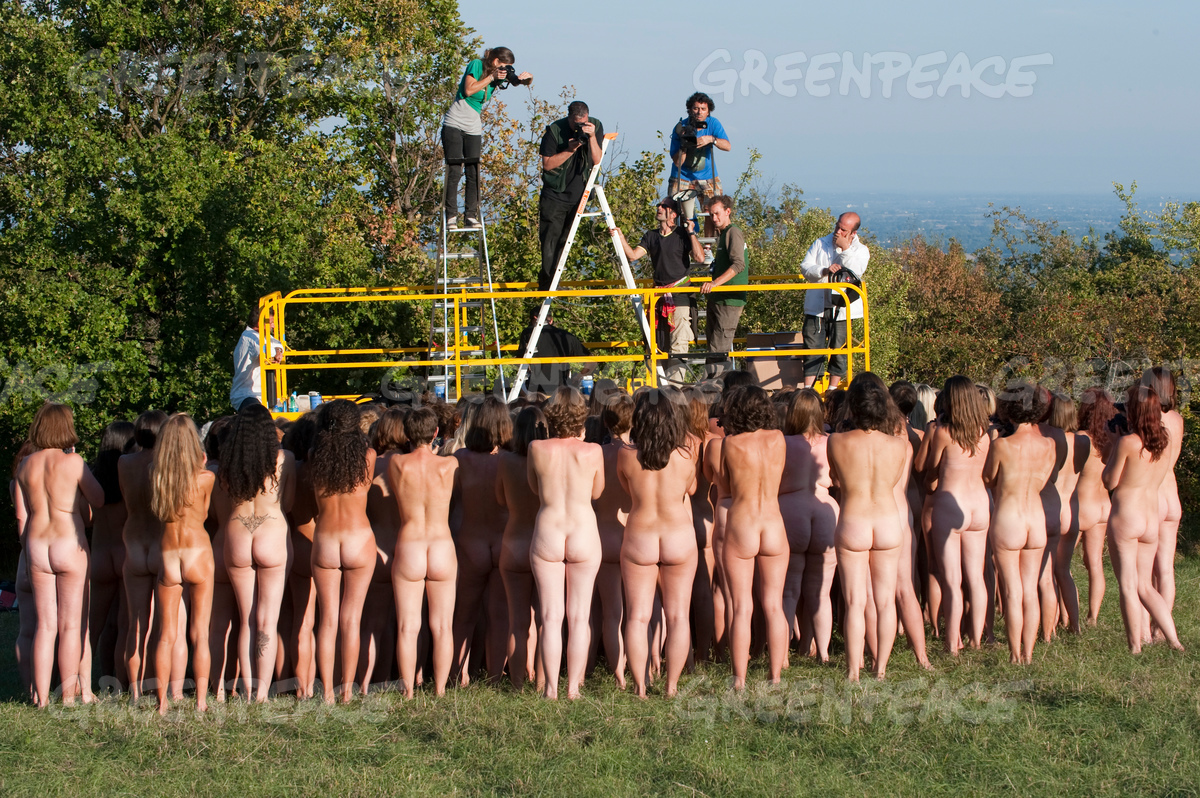 Climate Nude Action in French Vineyards