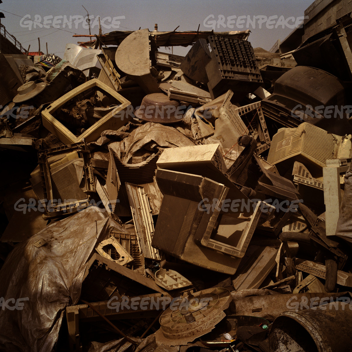 Piles of Plastic, Monitors and Other Electronic Waste