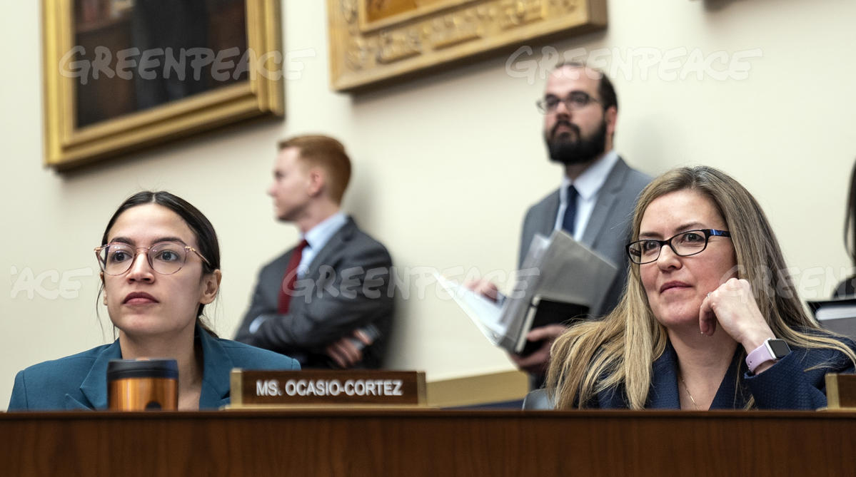 Alexandria Ocasio-Cortez and Jennifer Wexton at House Hearing on Consumer Abuses