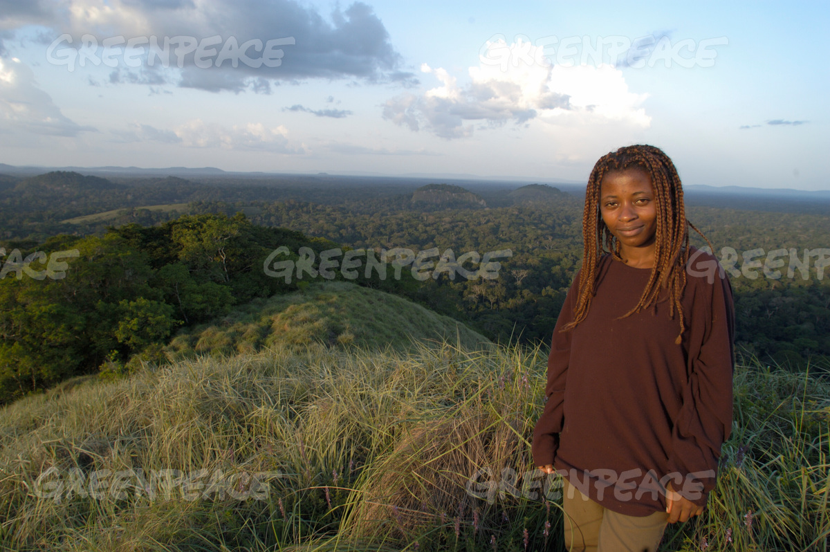 Woman in African Rainforest