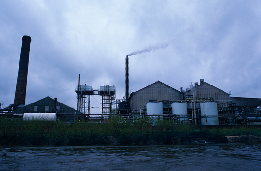 Sturge chemical factory next to River Ouse, Humberside,  north-east England.
