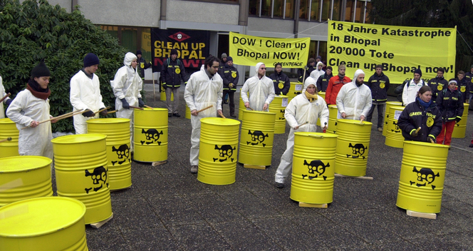 Toxics Action Return to Sender at Dow Headquarters in Horgen