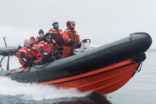 Actors and Crew in Inflatable in Greenland
