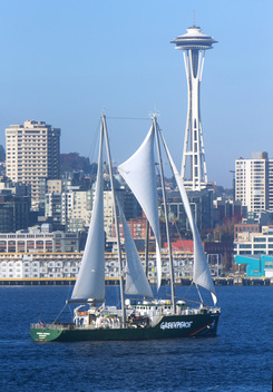 Rainbow Warrior Arrives in Seattle