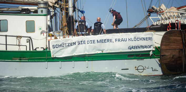Protest for Marine Protection at Fehmarn Belt in Germany