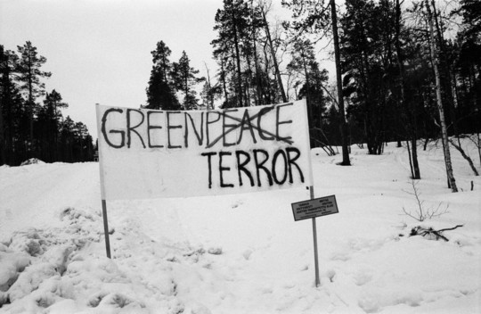 Loggers Demonstrate Against Greenpeace in Finland
