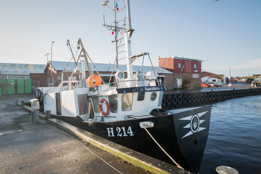 Vessel H214 at Gilleleje Harbor in Denmark