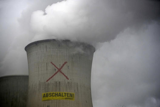 Protest at RWE Neurath Power Station in Germany